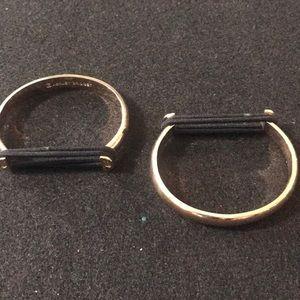 Ashley Bridget gold plated bangles